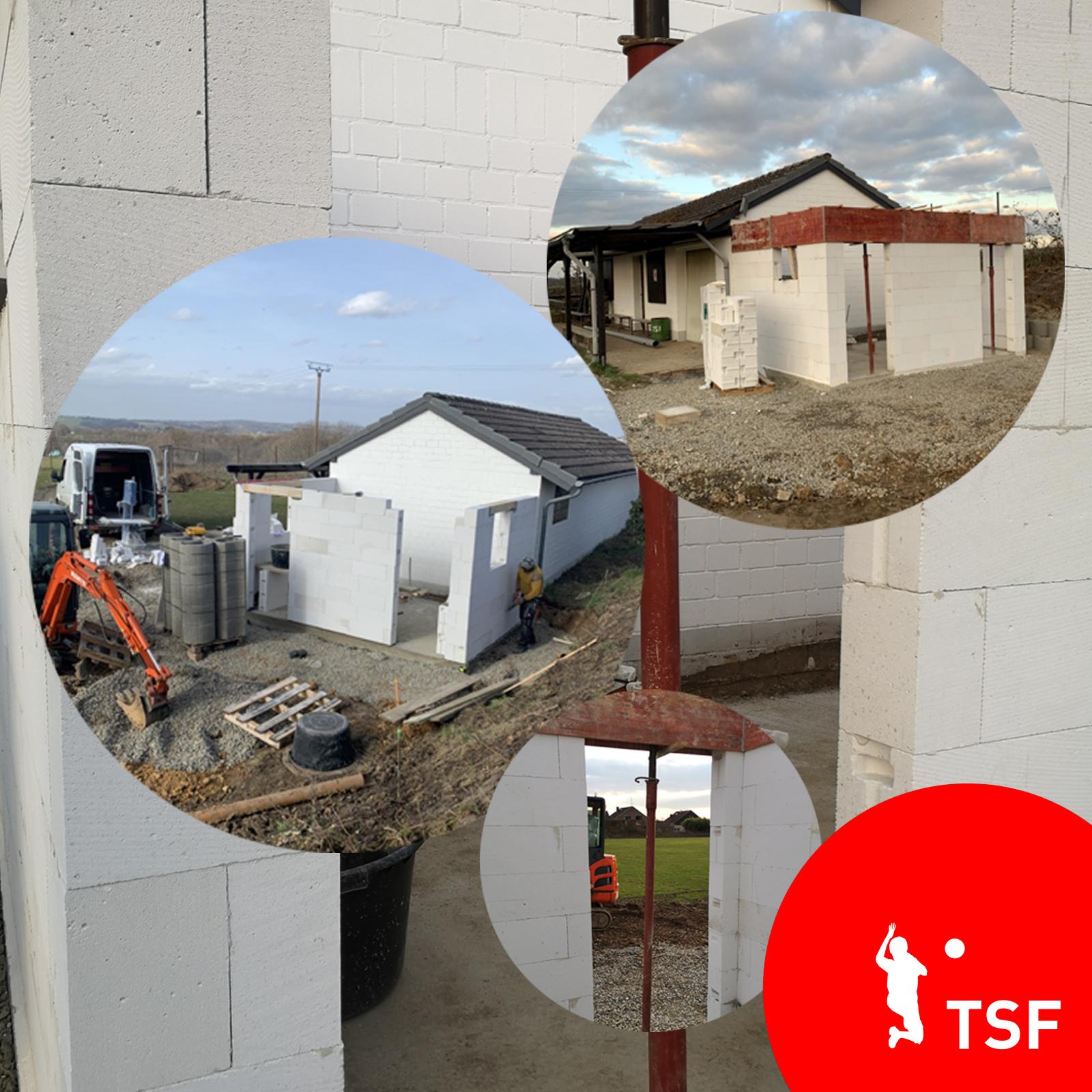 TSF - Baufortschritt auf unserem Sportplatz